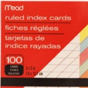 plain index cards