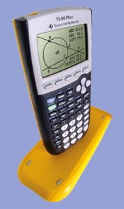 Texas Instruments TI 84 Plus Graphing Calculator in EZ Spot Yellow with