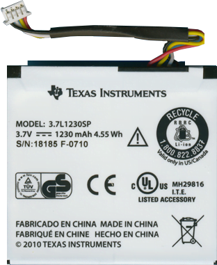 Texas Instruments TI Rechargeable Battery with Pigtail Wire